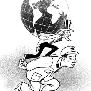 Editorial Art: Rise of China by Lem Luminarias