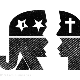 Editorial Art: GOP Schism by Lem Luminarias