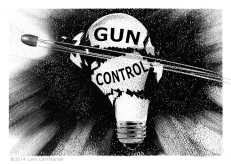 Editorial Art: Gun Control by Lem Luminarias