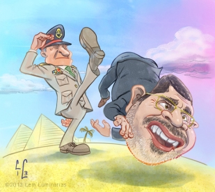 Caricature of Mohamed Morsi by Lem Luminarias