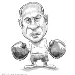 Caricature of Benjamin Netanyahu