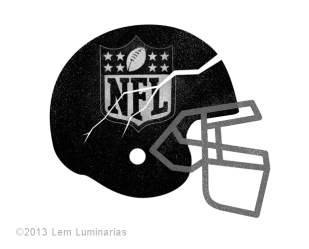 Editorial Art: NFL Concussions by Lem Luminarias