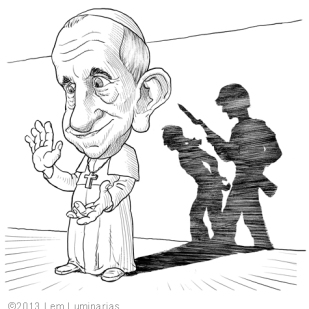 Caricature of Pope Francis by Lem Luminarias