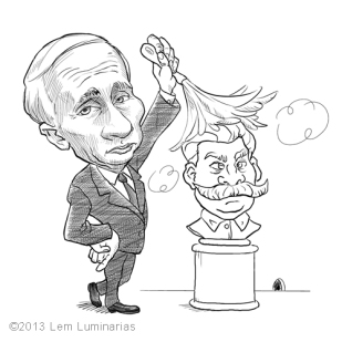 Caricature of Vladimir Putin by Lem Luminarias