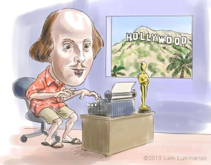 Caricature of Shakespeare by Lem Luminarias