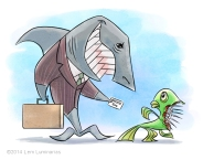 Cartoon Shark Lawyer by Lem Luminarias