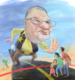 Caricature of Arizona Sheriff Joe Arpaio