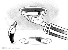 Editorial Art: Tax Slice by Lem Luminarias