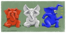 GOP Parody of the Three Wise Monkeys by Lem Luminarias