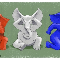 GOP Parody of the Three Wise Monkeys by Lem Luminarias