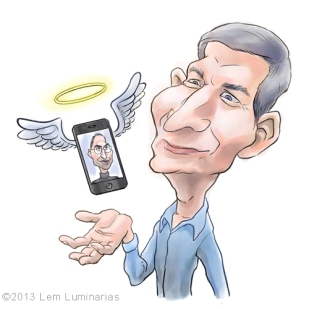 Caricature of Tim Cook by Lem Luminarias