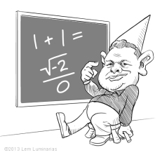 Caricature of Unskewed Pollster Dean Chambers by Lem Luminarias