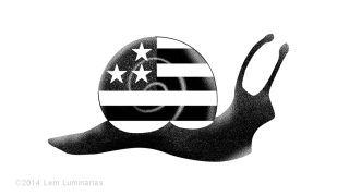 Editorial Art: US Slowdown by Lem Luminarias