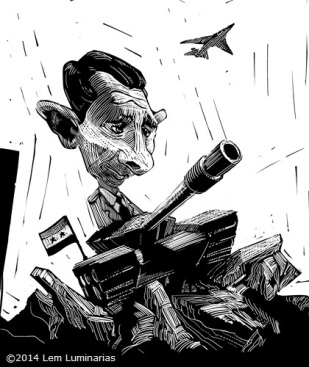 Caricature of Bashar al-Assad by Lem Luminarias