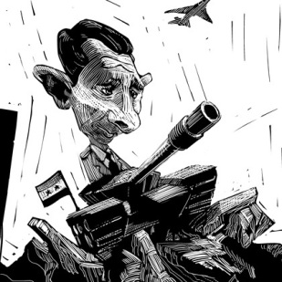 Caricature of Bashar al-Assad by Lem Luminarias