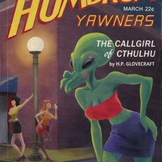 Humdrum Yawners, Pulp magazine cover parody by Lem Luminarias