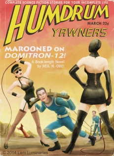 Humdrum Yawners, Pulp magazine cover parody by Lem Luminarias