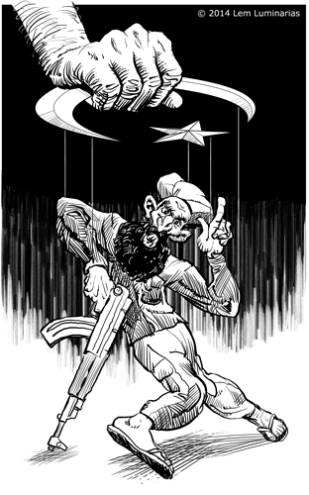 Editorial cartoon of a Jihadist by Lem Luminarias